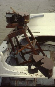 Panoramic camera mounted on workboat