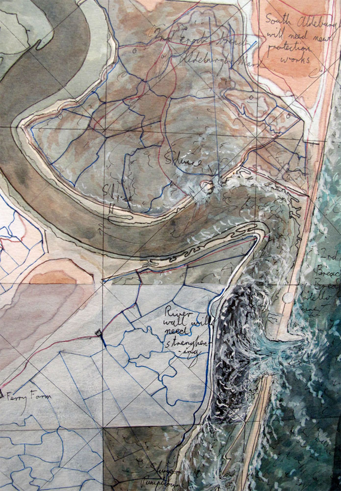 Detail taken from the Map of the Suffolk Coast