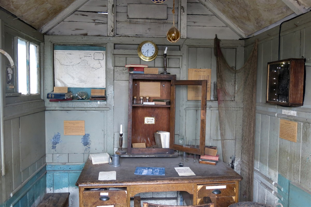 Inside Faraday's shed