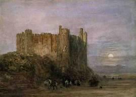 David Cox, Laugharne Castle Low Water 1849